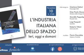 """10 novembre, ore 17.00 Presentazione online """"L'industria italiana dello spazio. Ieri, oggi, domani"""""""