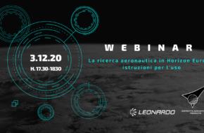 """3 dicembre ore 17.30 Webinar """"La ricerca aeronautica in Horizon Europe: istruzioni per l' uso"""""""