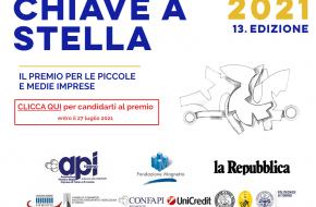 """Aperte le adesioni per l'edizione 2021 del Premio """"Chiave a Stella"""""""