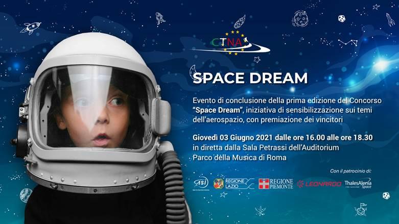 3 giugno 2021 ore 16.00: Webinar Space Dream